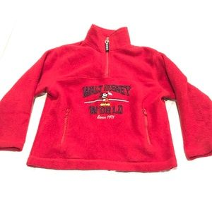 Vintage Disney WDW Embroidered Fleece Quarter Zip